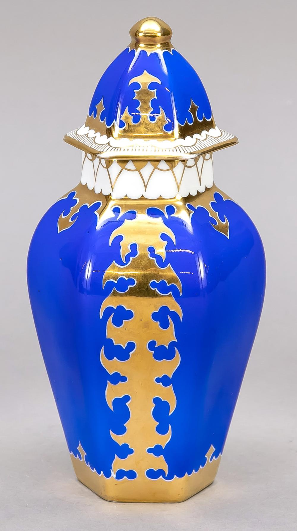 Art Deco lidded vase, Bavaria,