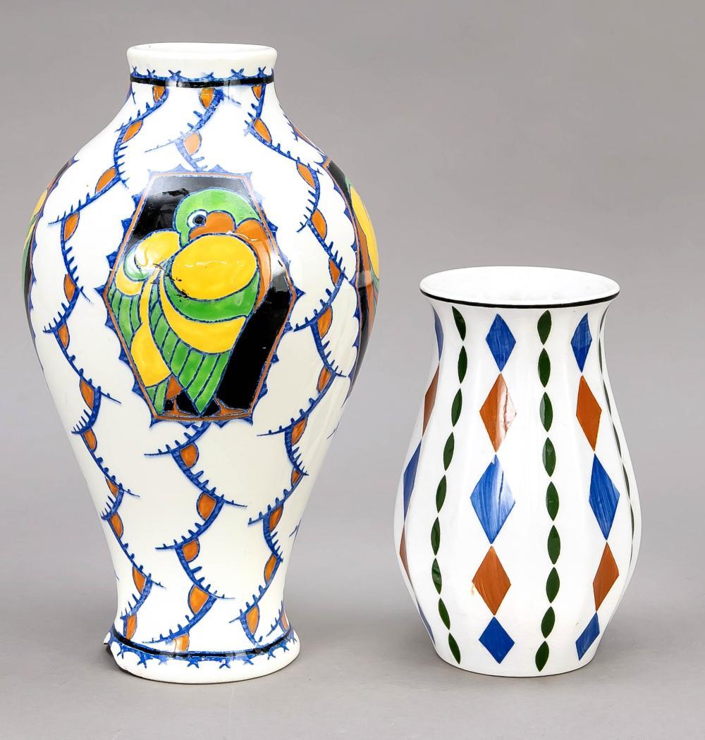 Two Art Deco vases, 1920-30s,