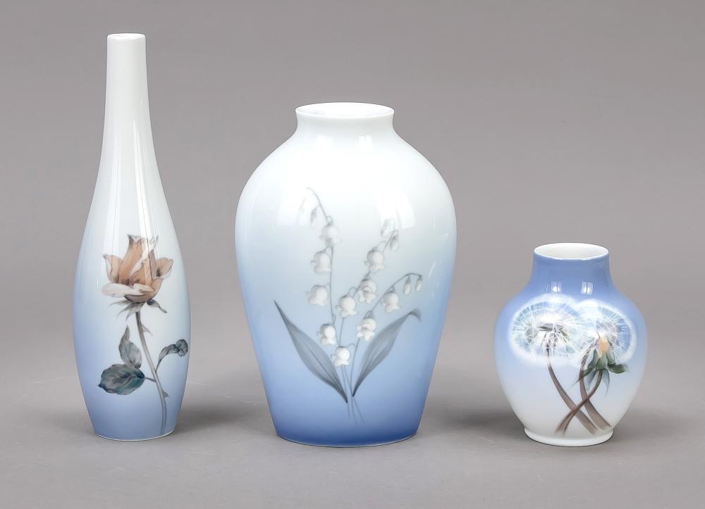 Three art nouveau vases, Copen