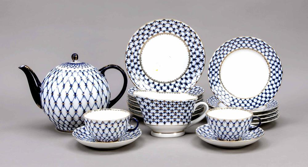 Tea service for 6 persons, 25