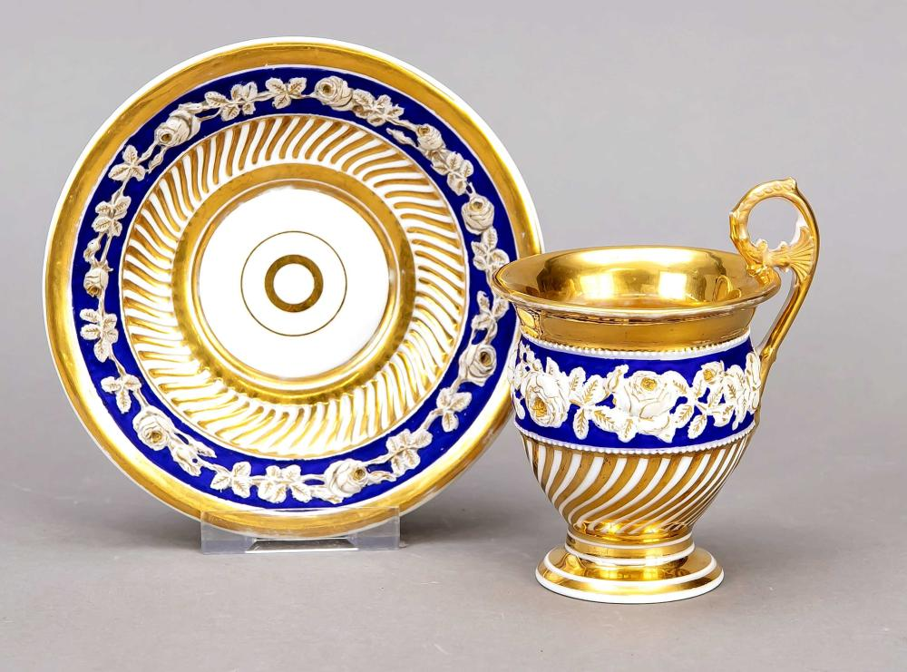 Cup and saucer, France, end of