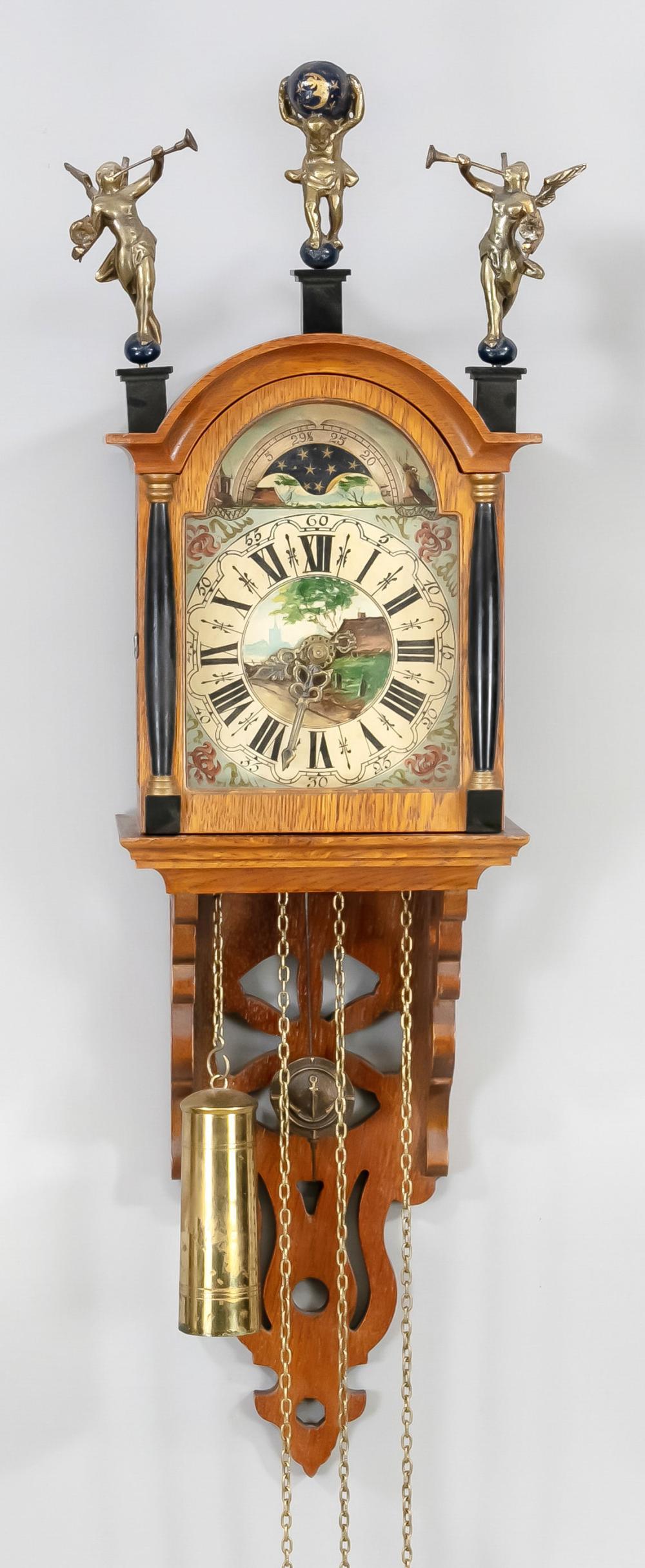 small Frisian half-case clock,