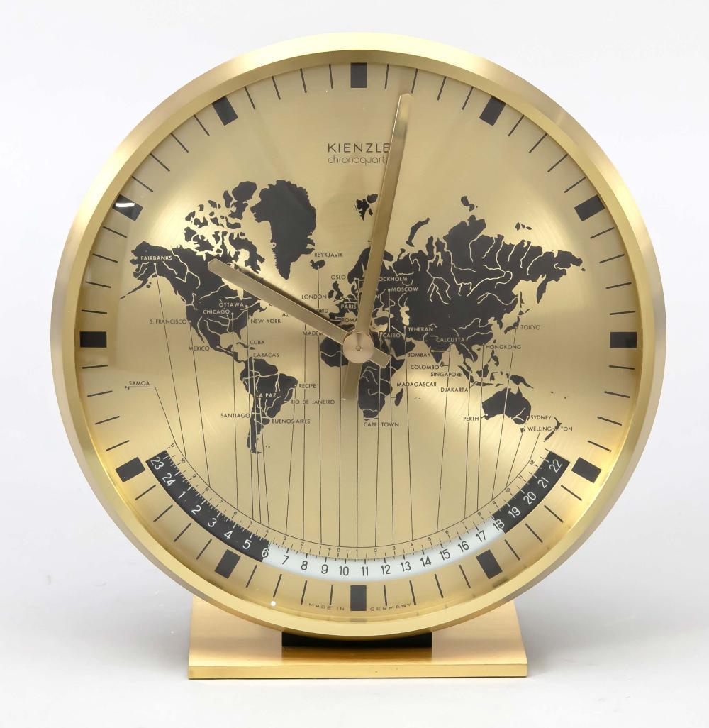 Table clock brass, Kienzle chr