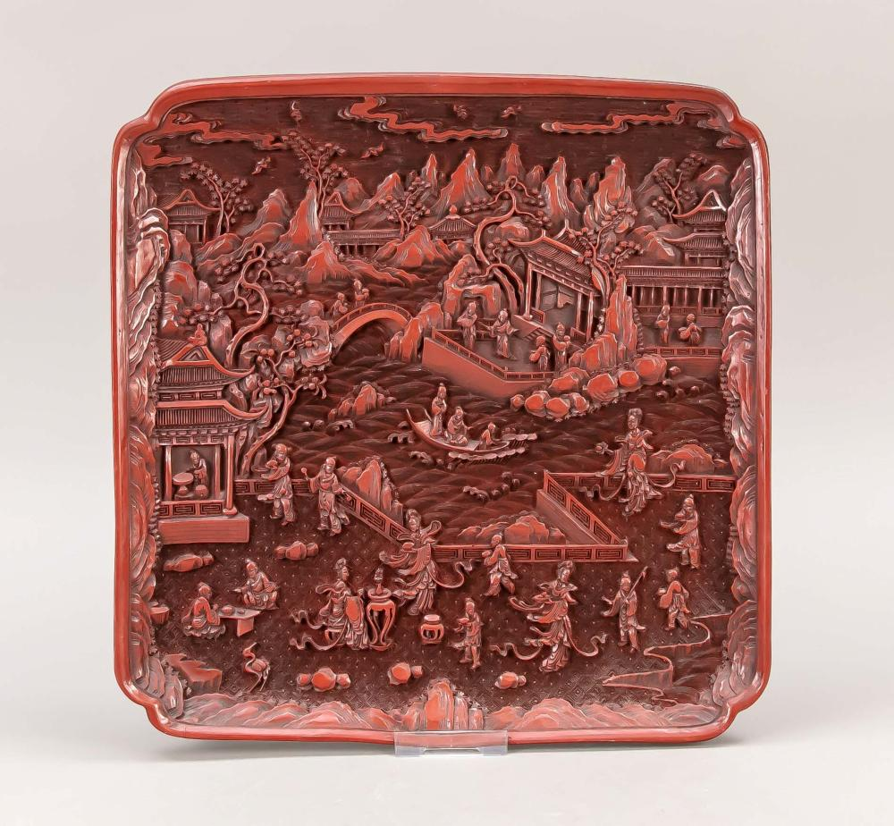 Cinnabar carved lacquer replic