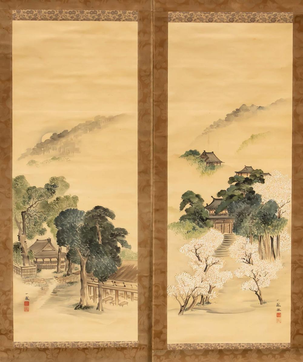 Mori Ippo (1798-1871): Pair of