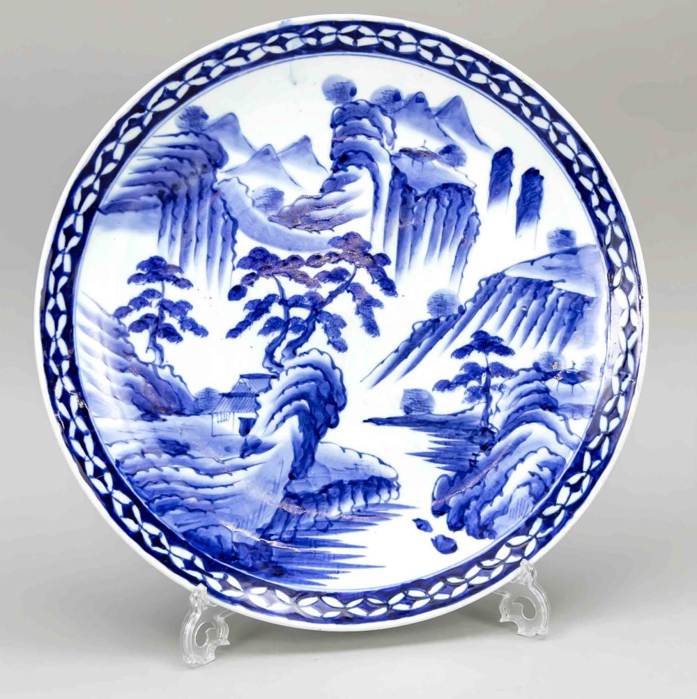 Large plate, China, 19th/20th