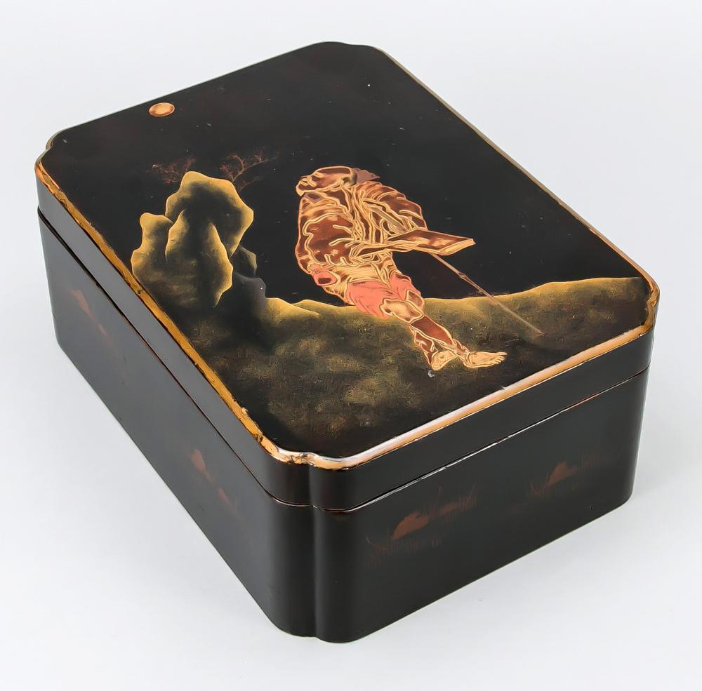 Lacquer box, Japan, 19th centu