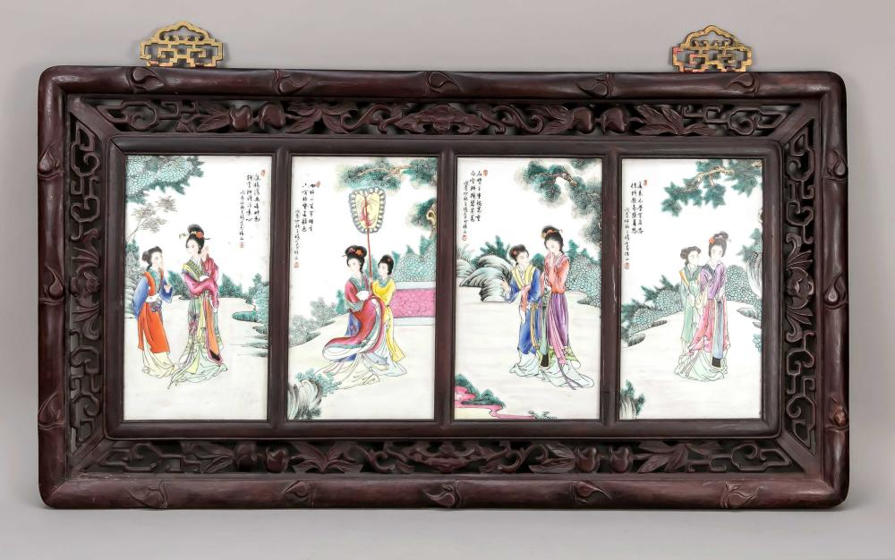 Famille Rose porcelain picture