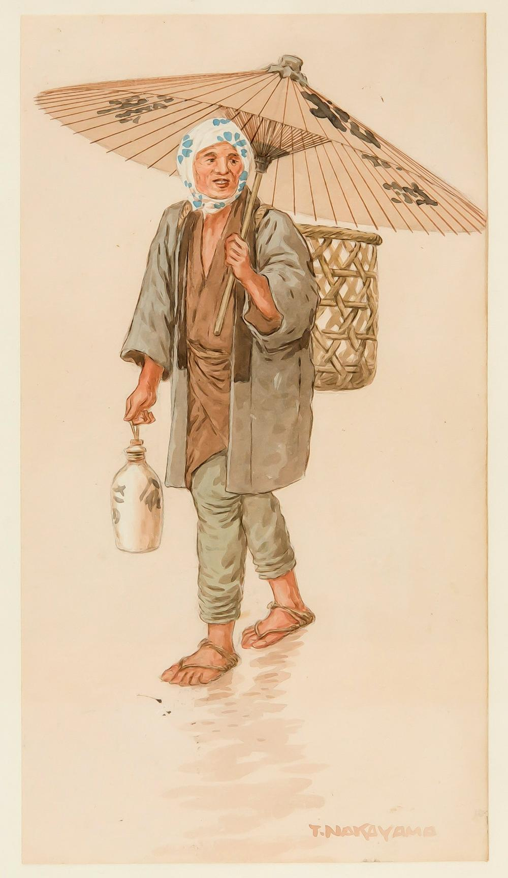Watercolour of a peasant woman