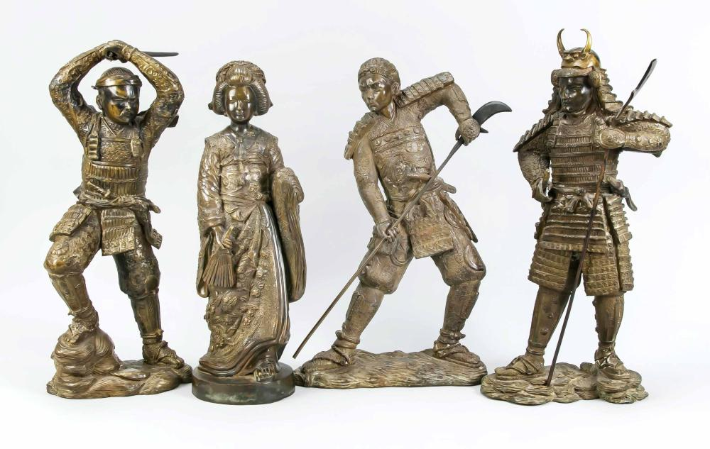 4 bronzes, Japan, 2nd half of