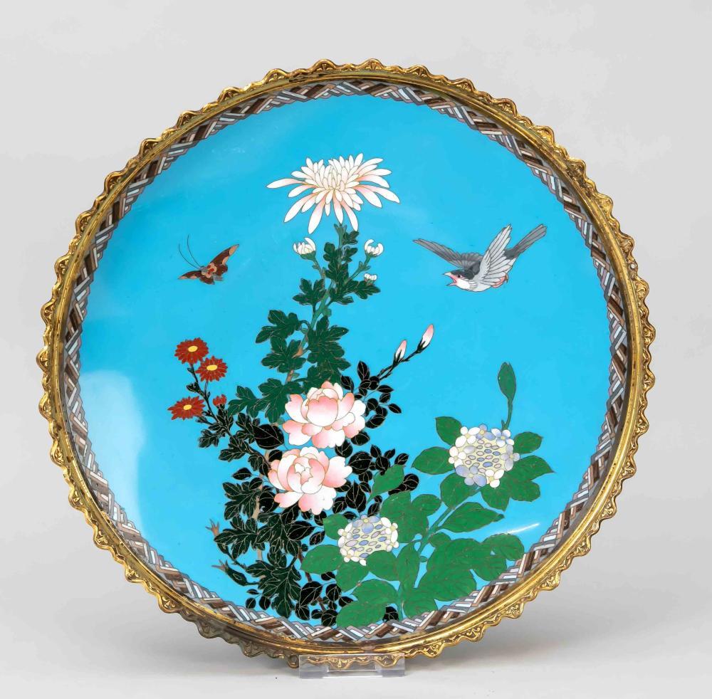 Cloisonné plate, Japan, c. 190