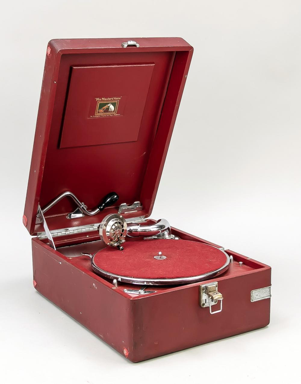 Case gramophone His Master's Voic