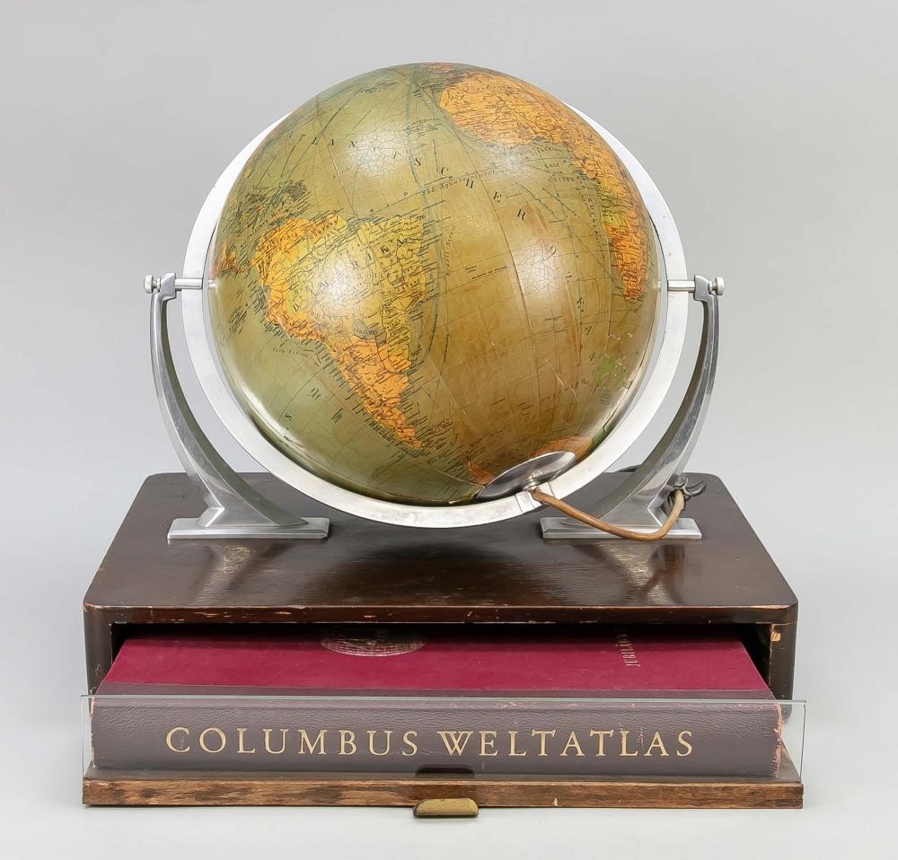 atlas in earth globe box, Germany
