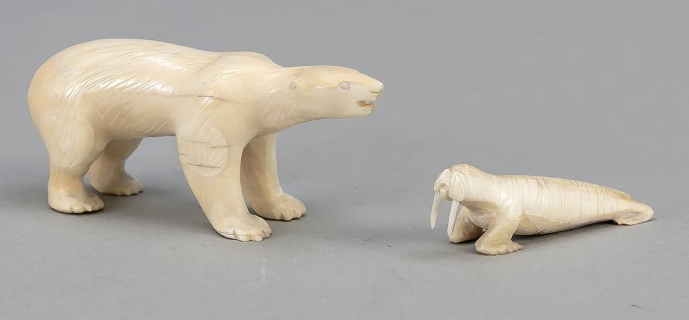 Polar bear and walrus, probably I