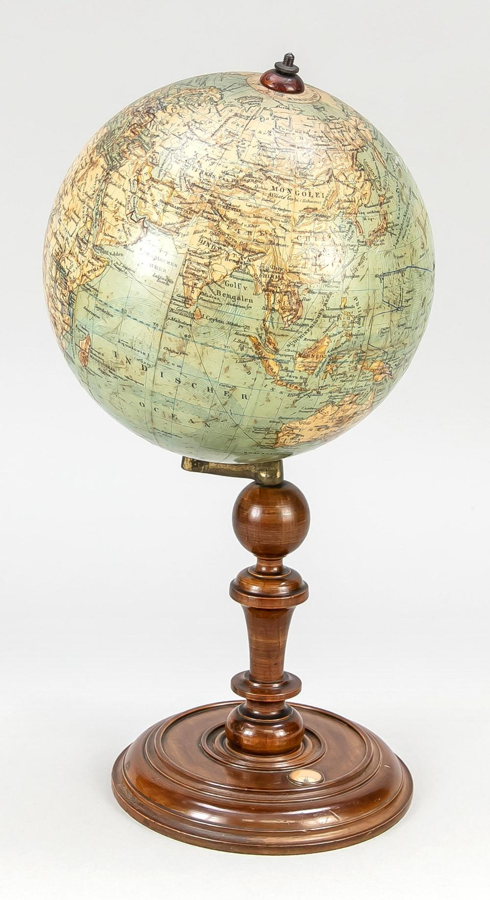 Heymann, L.J. Earth globe, wooden