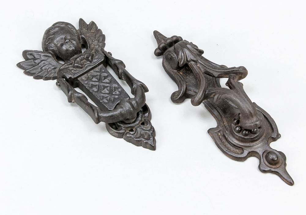 2 door knockers, 19th/20th c., ca