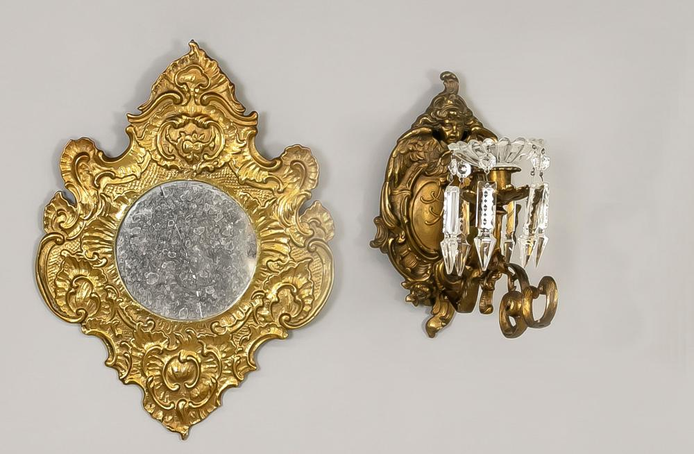 Sconce and mirror, late 19th cent