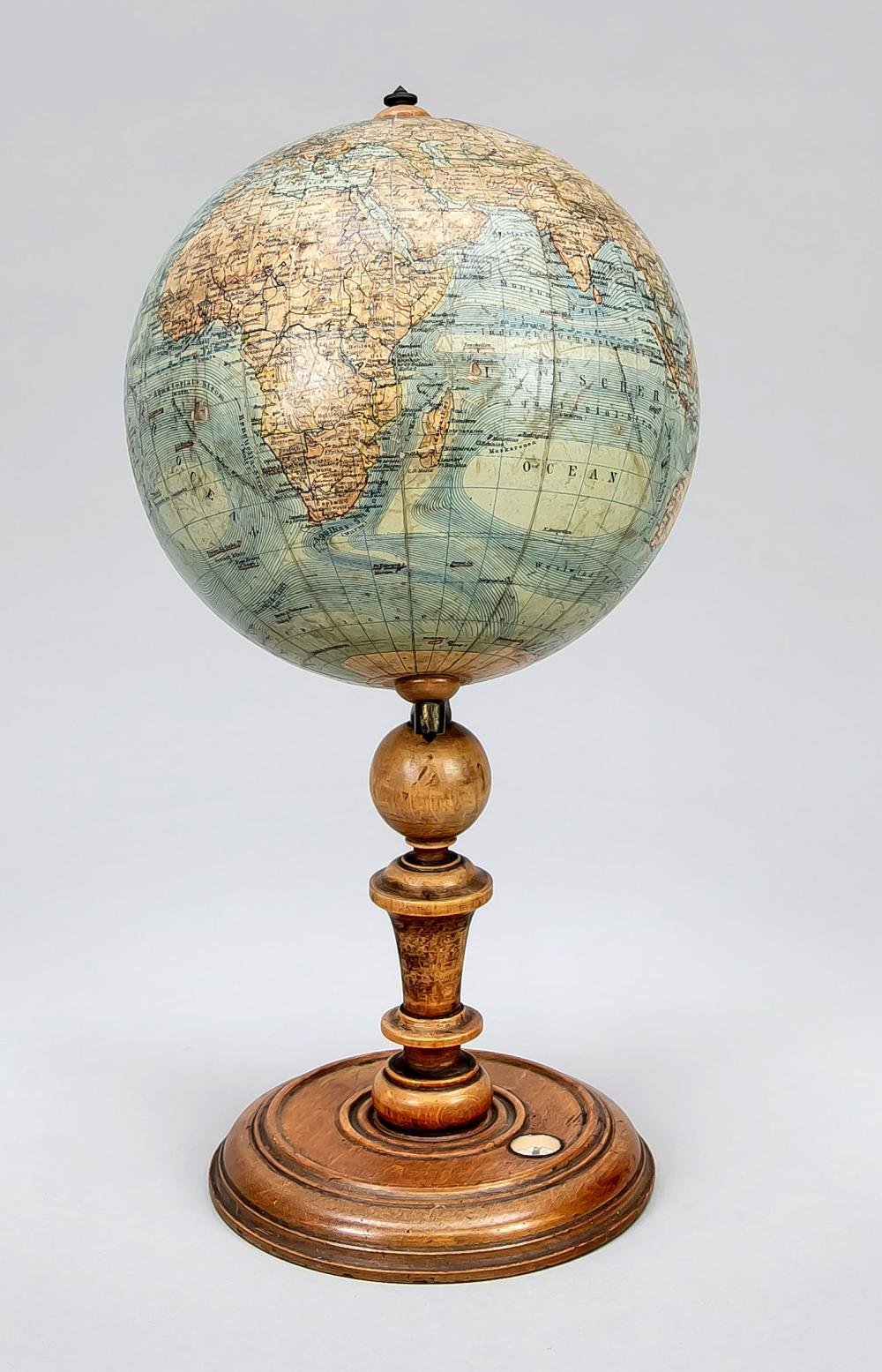 Earth globe, end of 19th century,