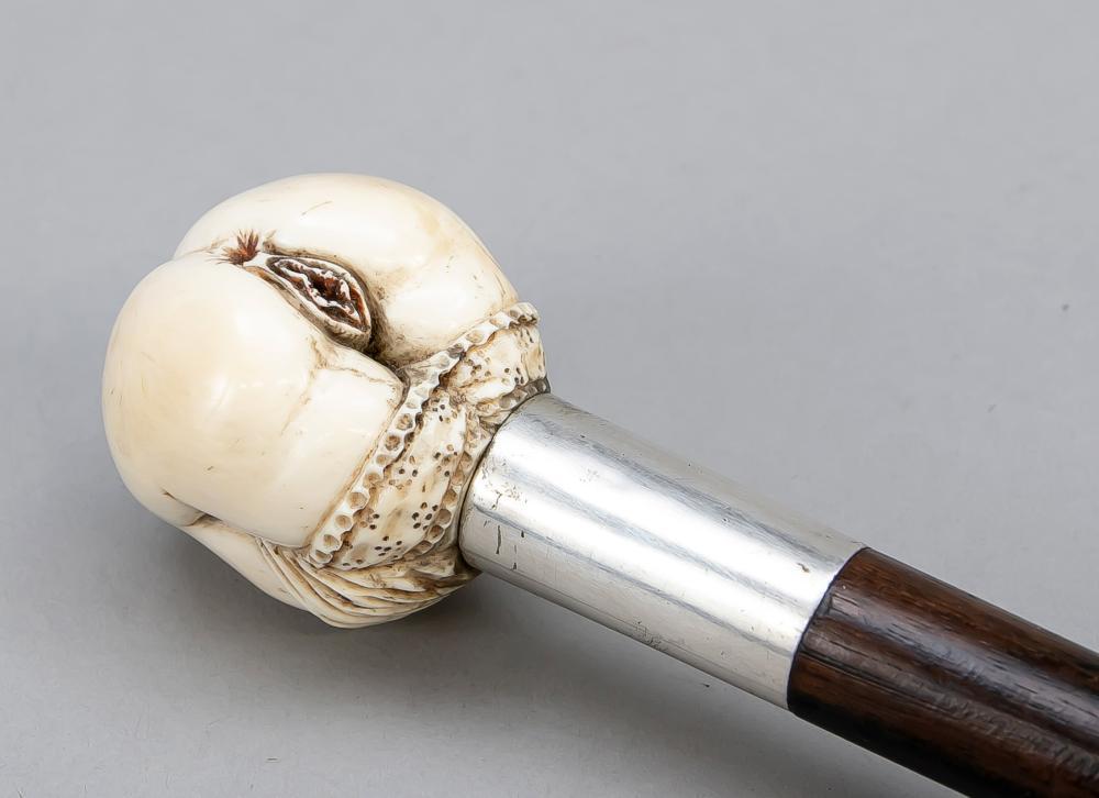 Walking stick with erotic ivory p