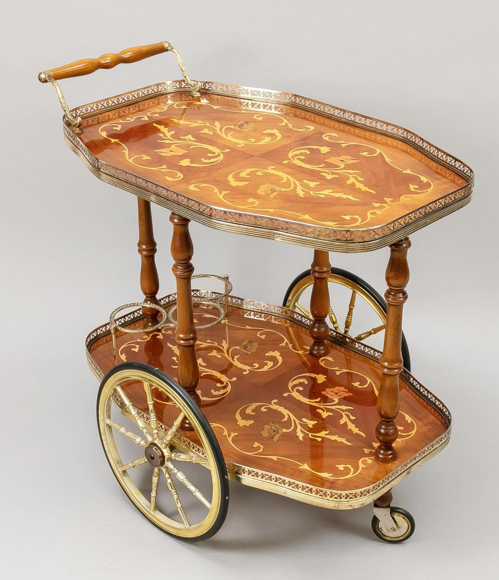 Serving trolley, 20th century, 2