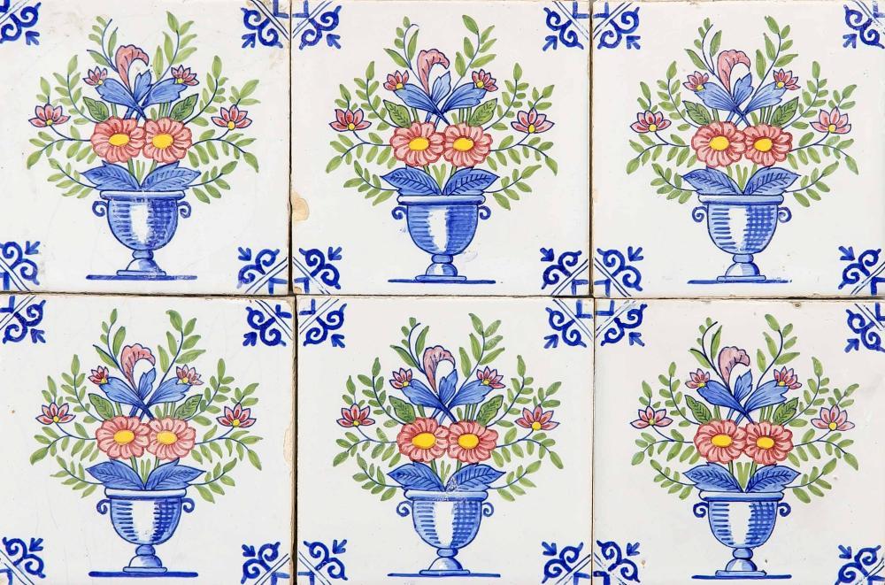 14 tiles, Holland, 18/19th centur