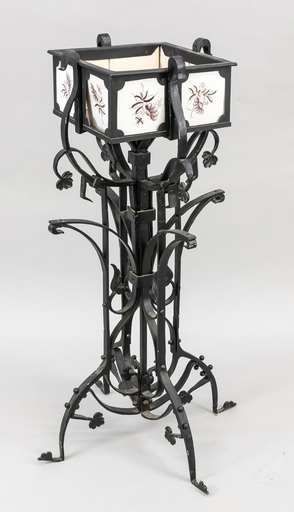Gardiniere, 20th c., cast iron, b