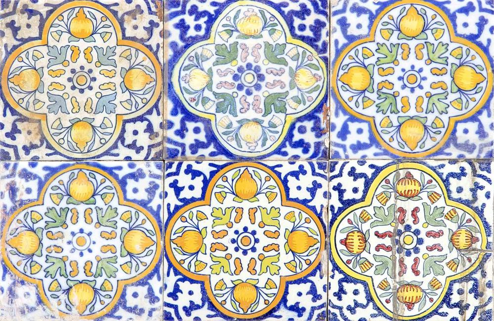 24 tiles, Holland, 18th century,