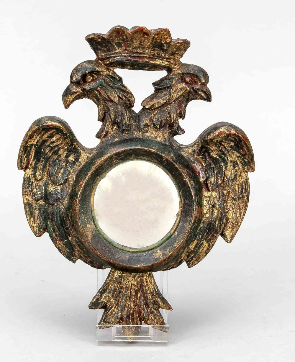 Round mirror in double eagle fram
