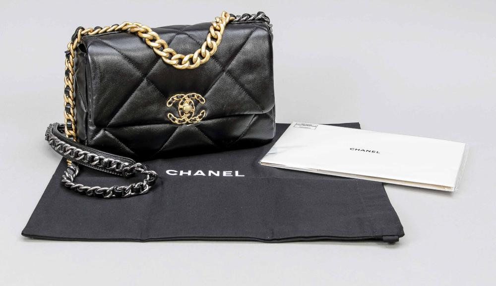 Chanel, Black Quilted 19 Flap