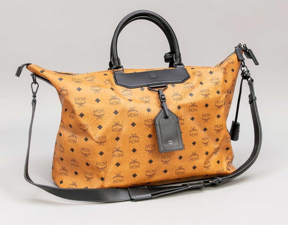 MCM, Large Cognac Duffle Bag/W