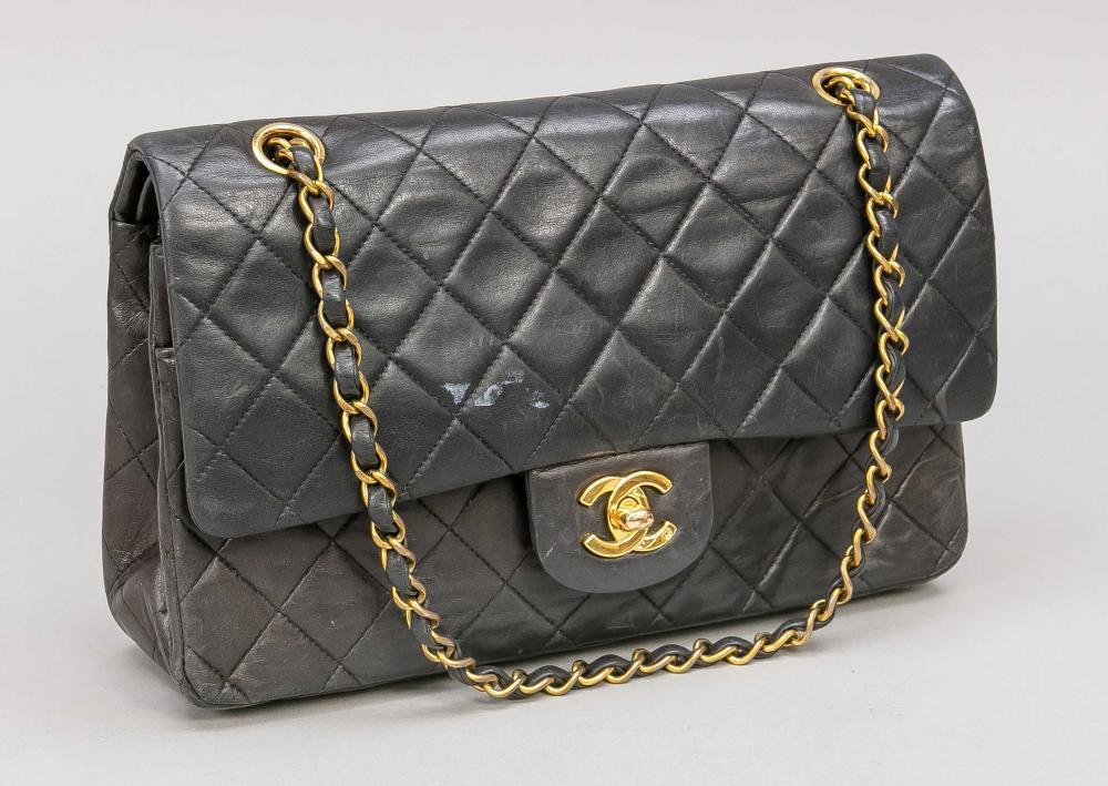 Chanel, vintage double flap ba