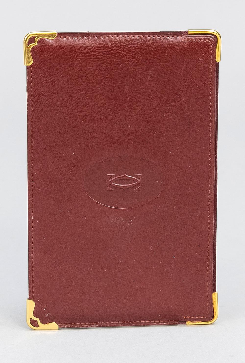 Cartier, small leather folder