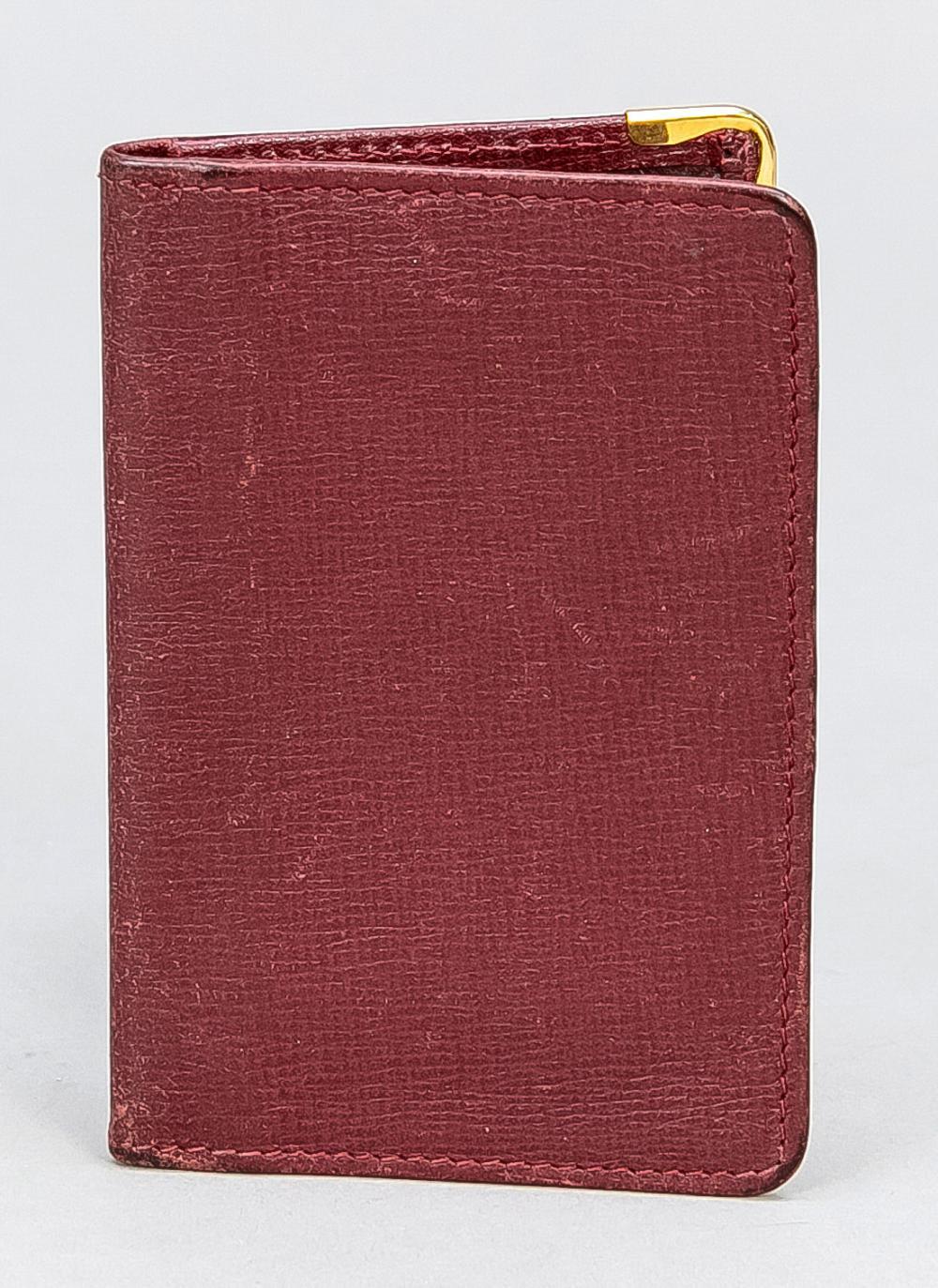 Cartier, ID/Photo case, burgun