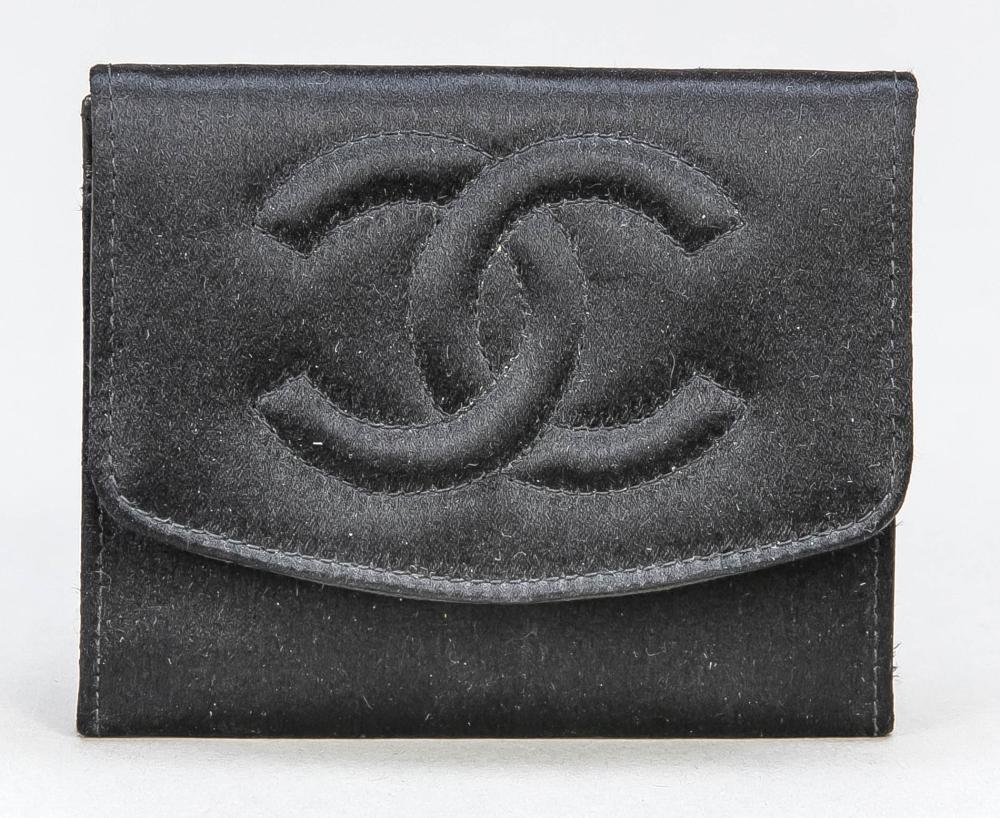 Chanel, small wallet, black sa