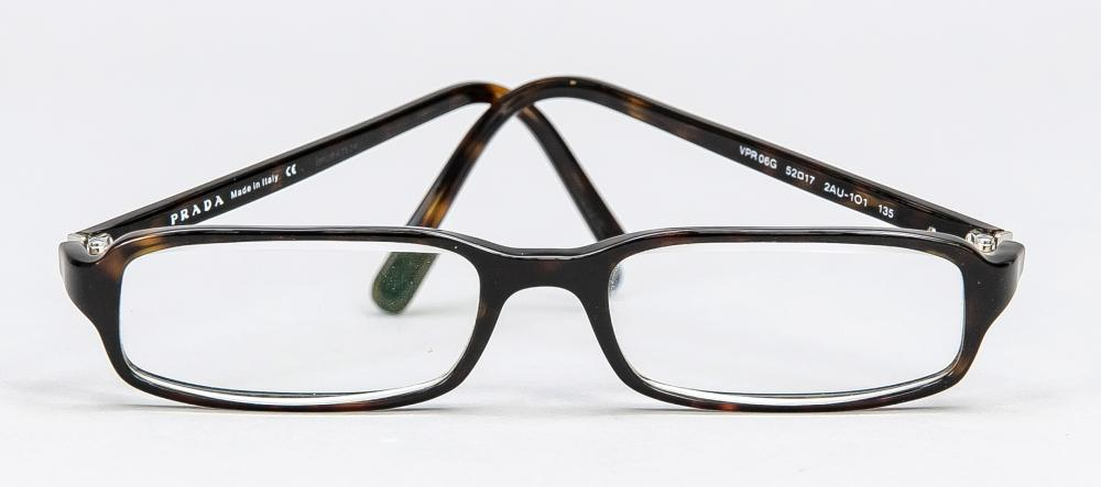 Prada, reading glasses, dark p