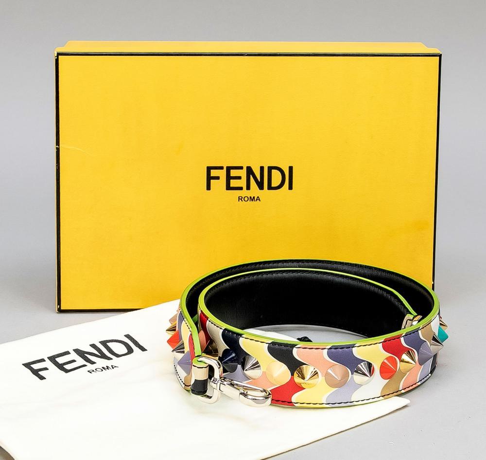 Fendi, multicolour bag strap,
