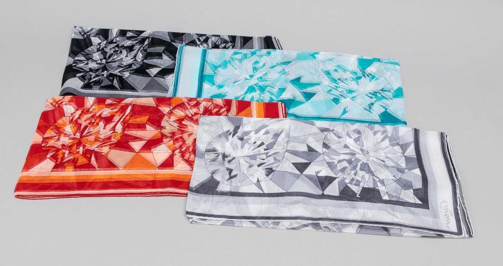 Cartier, four patterned square