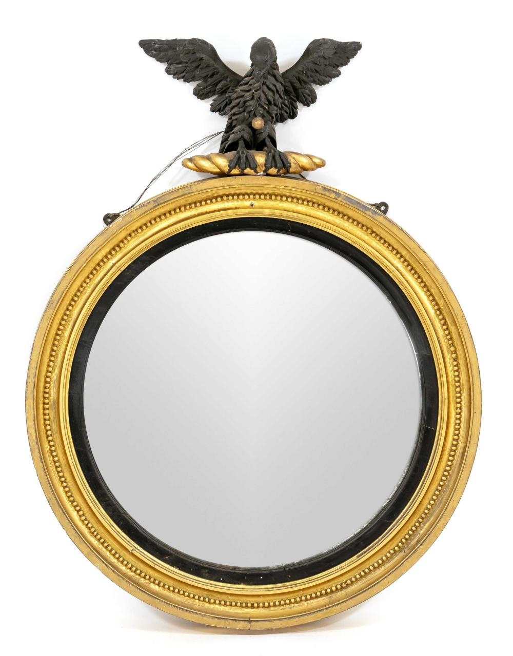 Round mirror with eagle crowni