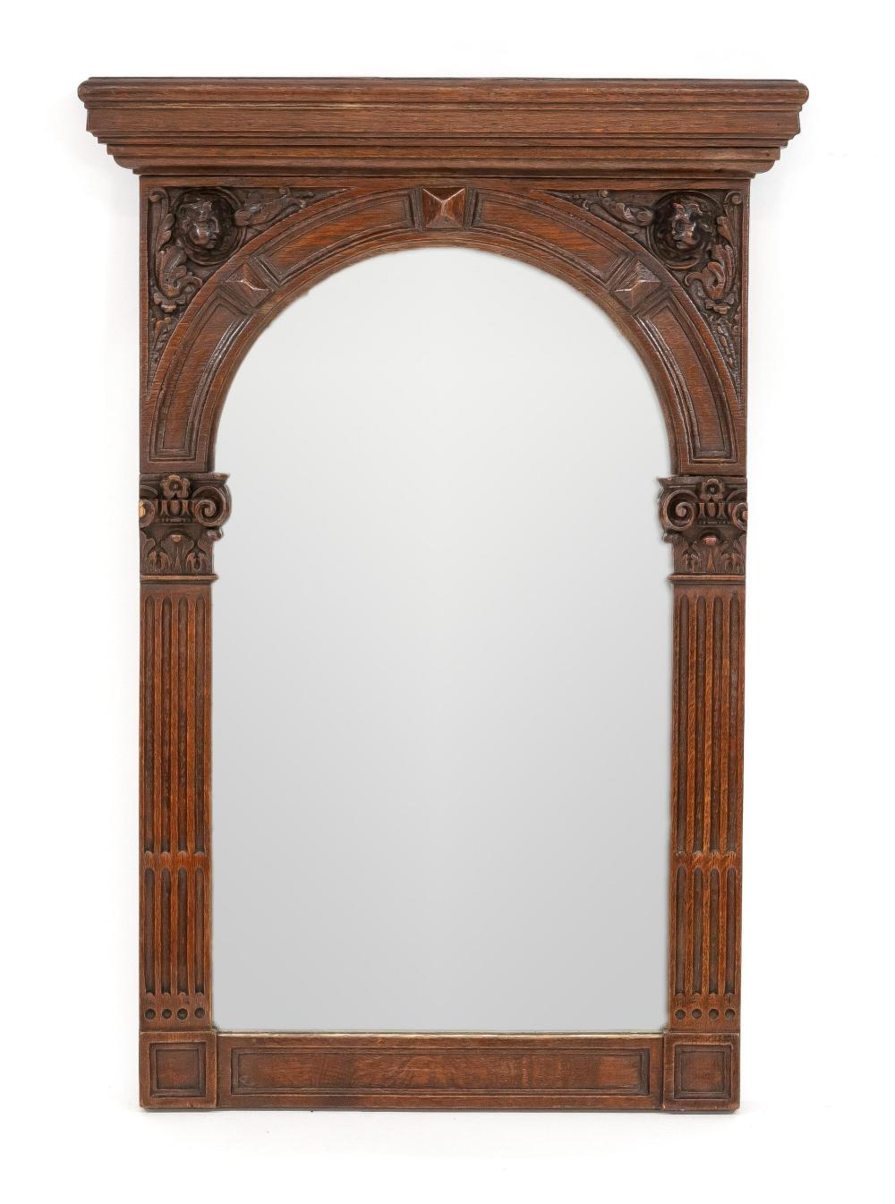 Historism wall mirror, end of