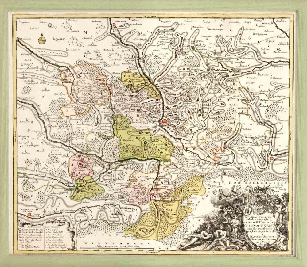 Historical map of Ellwangen an