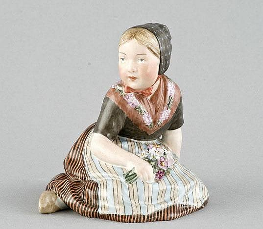 Seated Girl, Royal Copenhagen, Denmark, from the