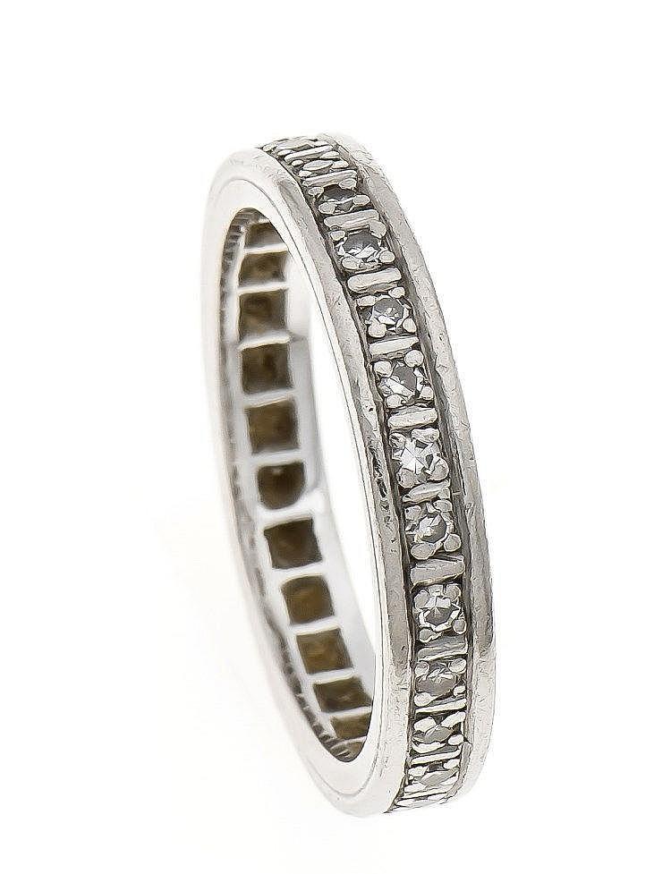 diamant ring platin ungest gepr rundherum mit brillanten. Black Bedroom Furniture Sets. Home Design Ideas