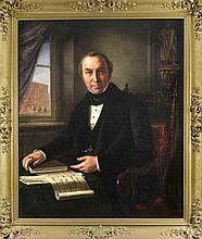 Hermann Maurice Cossmann (1821-1890), Bildnis eines Architekten, Öl/Lwd., w