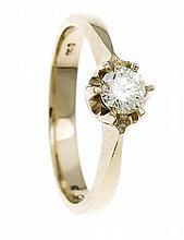 Brillant-Ring GG 585/000 mit einem Brillanten 0,50 ct fancy yellow/VS, RG 5