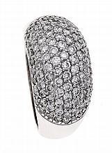 Brillant-Ring WG 750/000 mit Brillanten, zus. 1,50 ct Weiß/SI, RG 53, 8,2 g