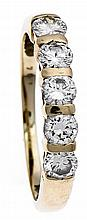 Brillant-Ring GG 585/000 mit 5 Brillanten, zus. 1,04 ct l.get.Weiß/VVS-VS,