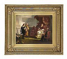 Sign. Garau, Maler des 19. Jh., Audienz beim Papst (Papst Paul III. Farnese