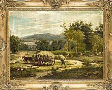Adolf Hohneck (1812-1879), 'Motiv aus Westphalen', Öl/Lw. Sign. u. re. A. H