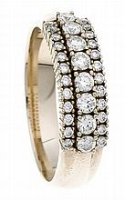 Brillant-Ring GG 585/000 mit Brillanten, zus. 1,0 ct W/SI, RG 63, 6,8 g
