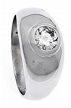 Brillant-Ring WG 585/000 mit einem Brillanten 1,04 ct l.get.Weiß/P1, RG 56,